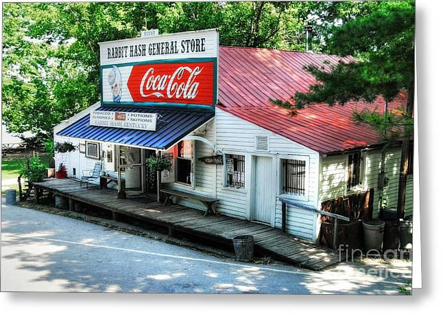 Rabbit Hash General Store Greeting Card by Mel Steinhauer