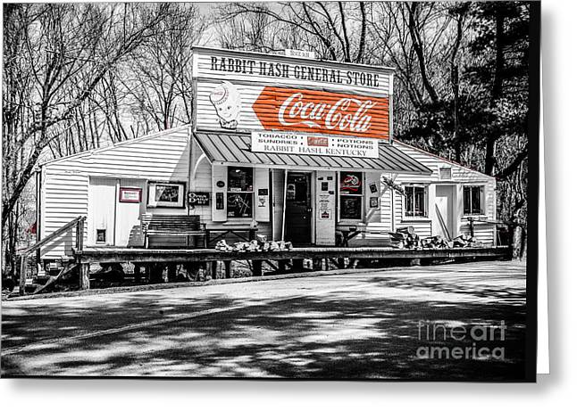 Rabbit Hash Store-front View Sc Greeting Card by Mary Carol Story