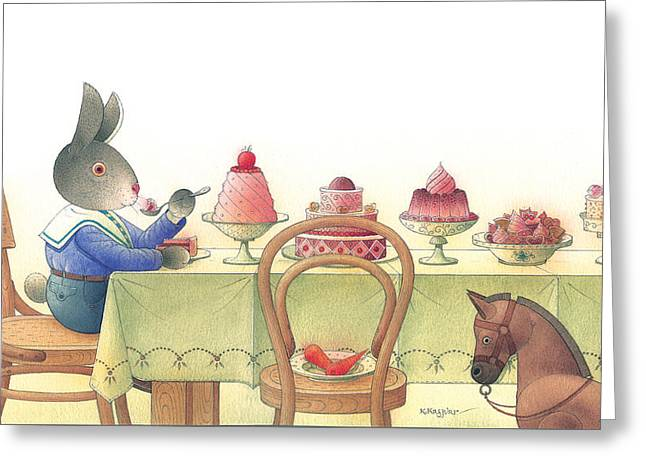 Rabbit Marcus The Great 10 Greeting Card by Kestutis Kasparavicius