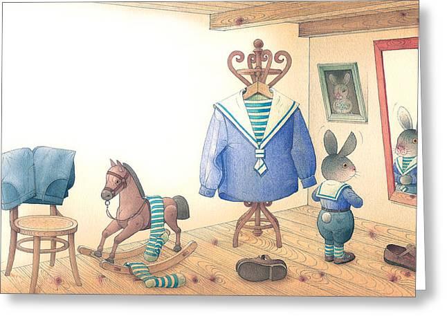 Rabbit Marcus The Great 27 Greeting Card by Kestutis Kasparavicius