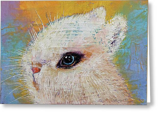 Rabbit Greeting Card by Michael Creese