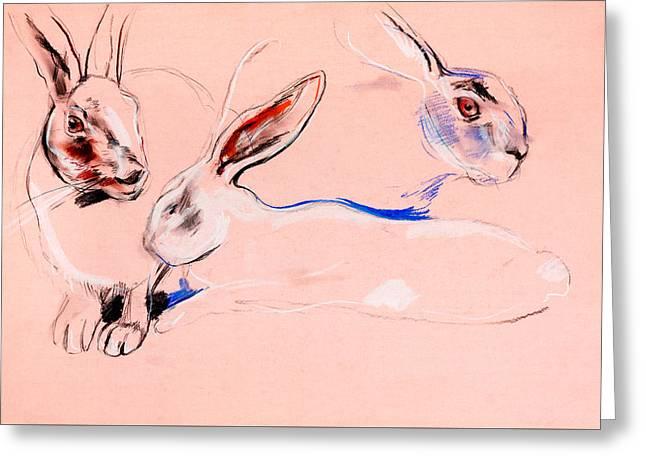 Rabbit Painting By Ivailo Nikolov Greeting Card by Boyan Dimitrov