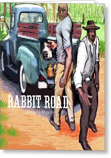 Rabbit Road Novel Print Greeting Card by The Perkins Gallery