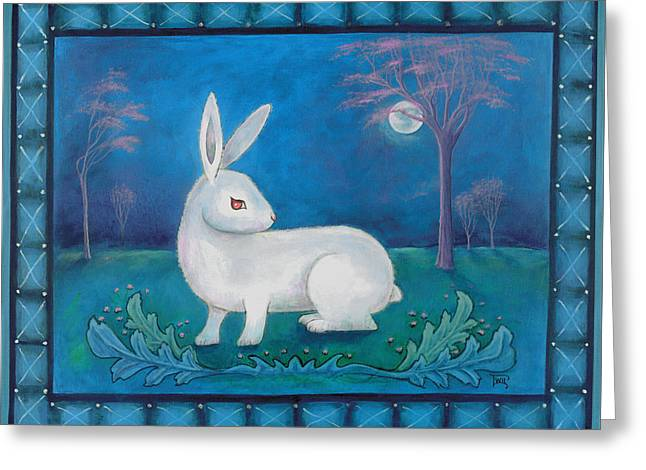 Greeting Card featuring the painting Rabbit Secrets by Terry Webb Harshman