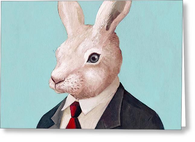 Rabbit Square Greeting Card
