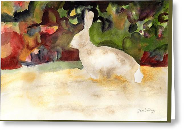 Rabbit We Saw On Our Walk Greeting Card by Janel Bragg