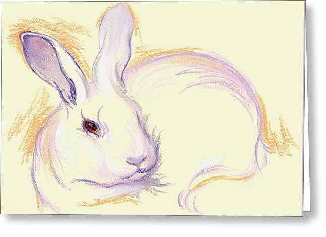 Rabbit With A Red Eye Greeting Card
