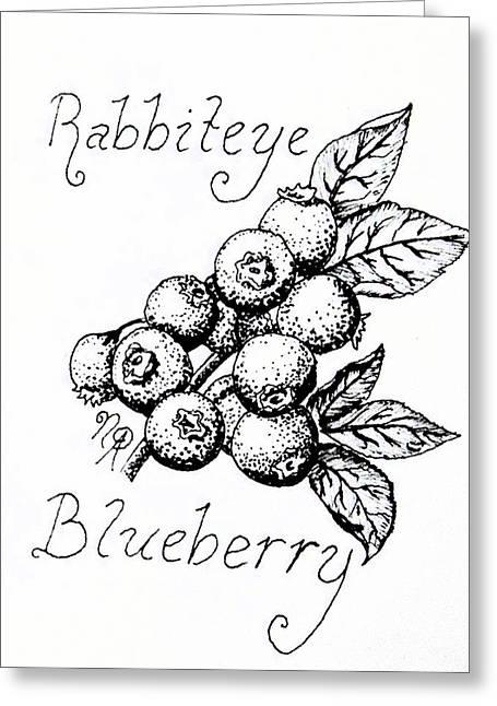 Rabbiteye Blueberry Greeting Card
