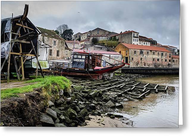 Rabelo Boats At The Dock Greeting Card