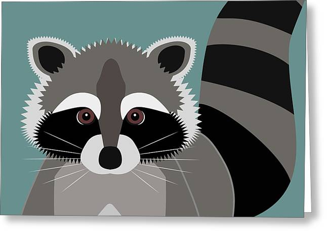 Raccoon Forest Bandit Greeting Card