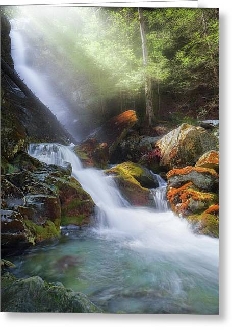 Greeting Card featuring the photograph Race Brook Falls 2017 by Bill Wakeley