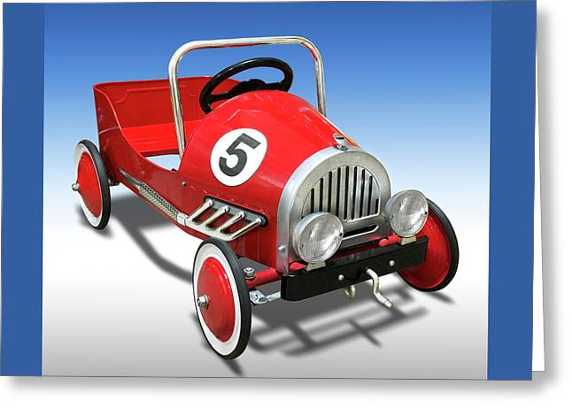 Race Car Peddle Car Greeting Card by Mike McGlothlen