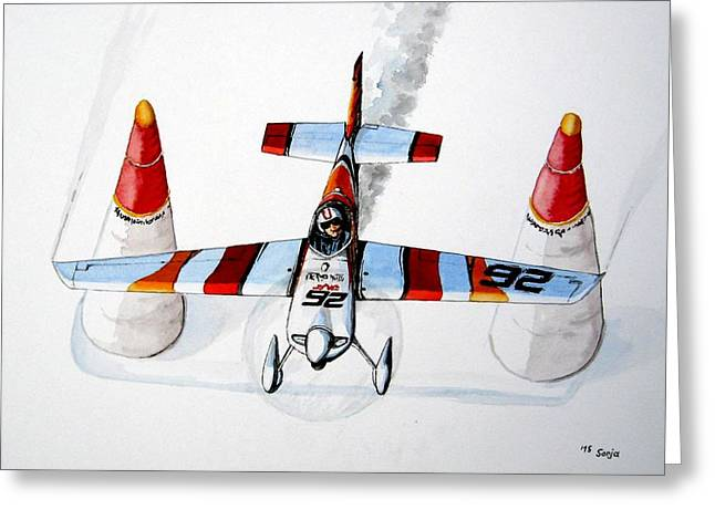 Race Pilot Juan Velarde Greeting Card