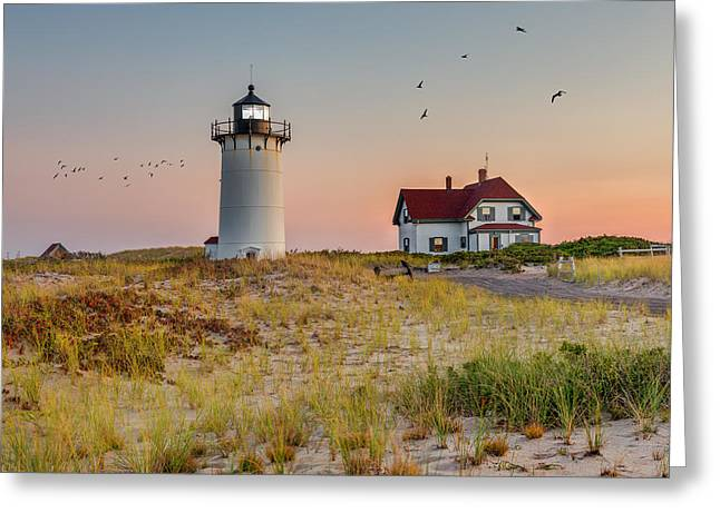 Race Point Light Cape Cod Greeting Card by Bill Wakeley