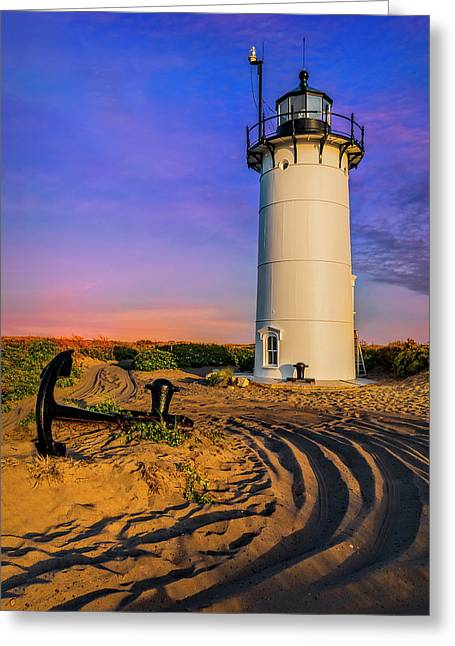 Race Point Light Provincetown Ma Greeting Card by Susan Candelario