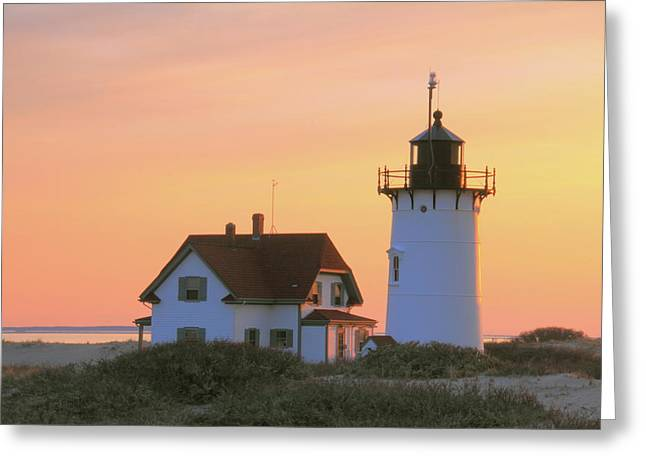 Race Point Light Greeting Card by Roupen  Baker