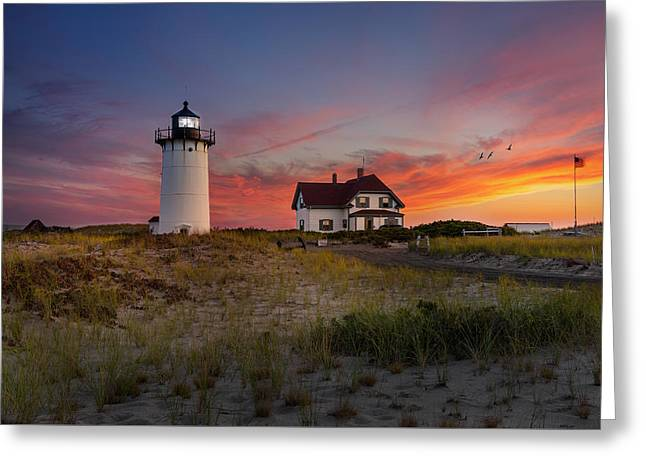 Race Point Light Sunset 2015 Greeting Card by Bill Wakeley
