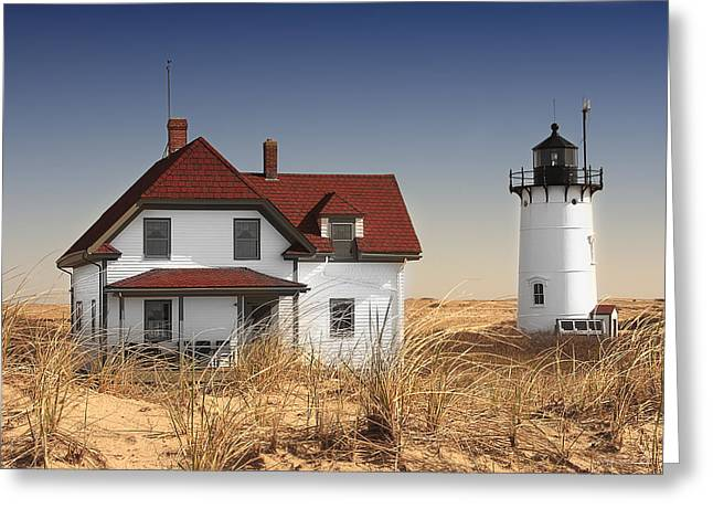 Race Point Lighthouse Cape Cod Greeting Card by Dapixara Art