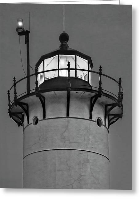 Race Point Lighthouse New England Bw Greeting Card by Susan Candelario
