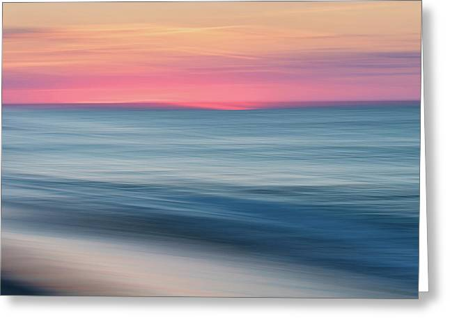 Race Point Sunset Greeting Card by Katherine Gendreau