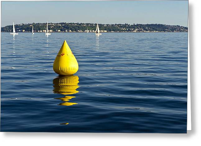 Race Pylon Bouy Greeting Card by Tom Dowd