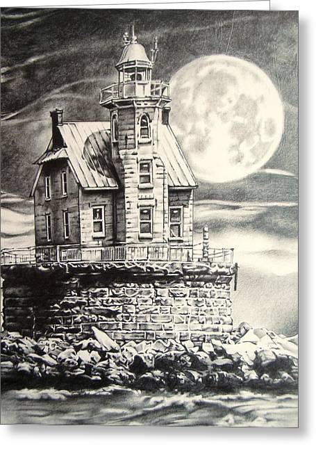 Race Rock Light House Greeting Card by Michael Lee Summers