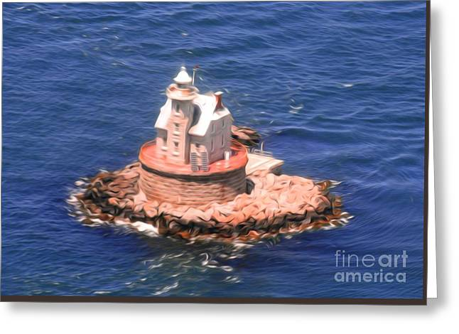 Race Rock Lighthouse Greeting Card by William Petri