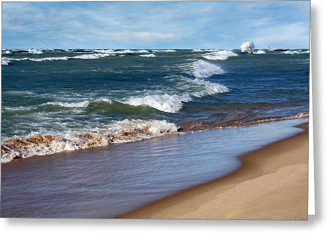 Race To Shore Greeting Card