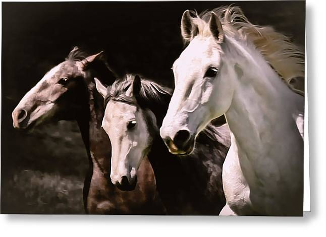 Race To The Finish II Greeting Card by Athena Mckinzie