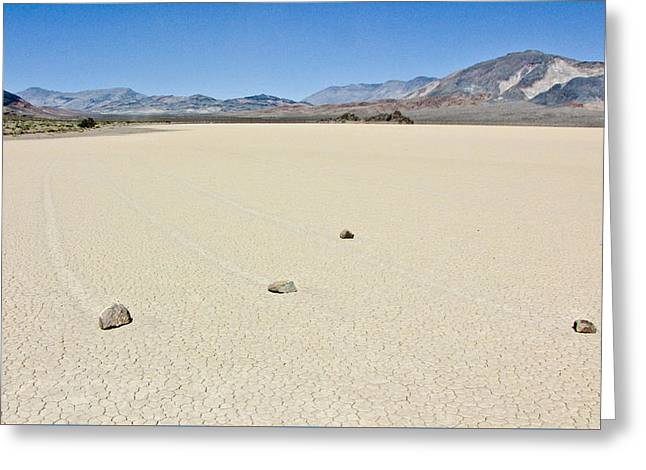 Racetrack Playa Death Valley 1 Greeting Card by Backcountry Explorers