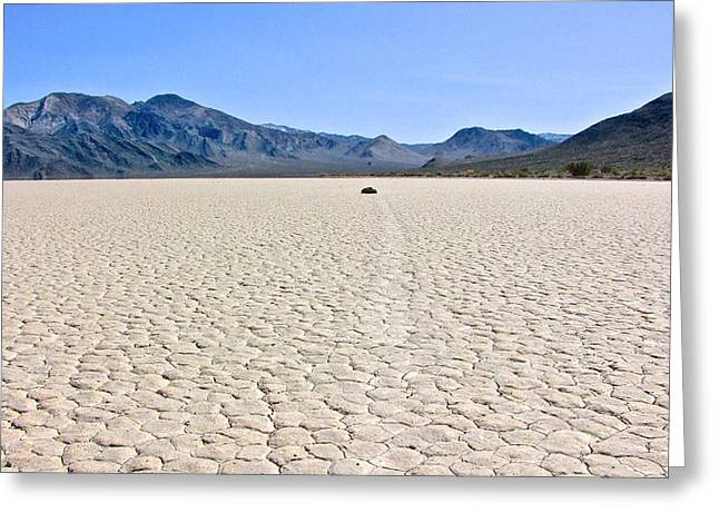 Racetrack Playa Death Valley 2 Greeting Card by Backcountry Explorers