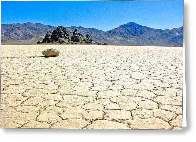 Racetrack Playa Death Valley 3 Greeting Card by Backcountry Explorers