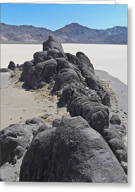 Racetrack Playa Death Valley 4 Greeting Card by Backcountry Explorers