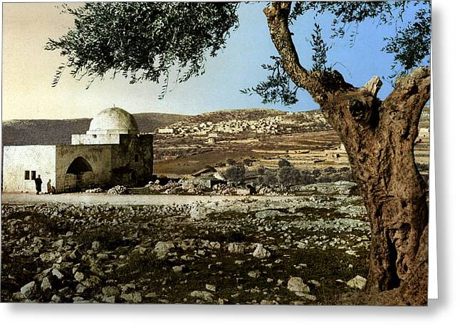 Rachel Tomb In Bethlehem Greeting Card by Munir Alawi