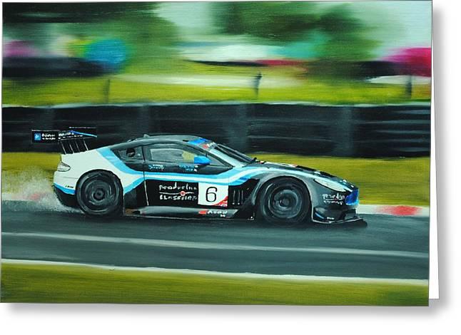 Racing Car Greeting Card by Nolan Clark