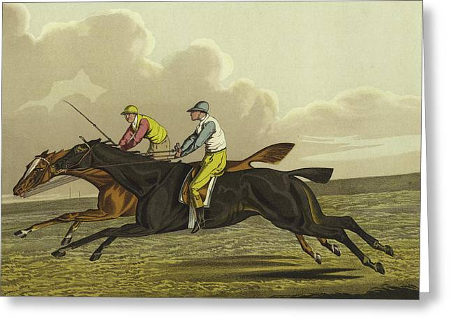 Racing Greeting Card by Henry Thomas Alken