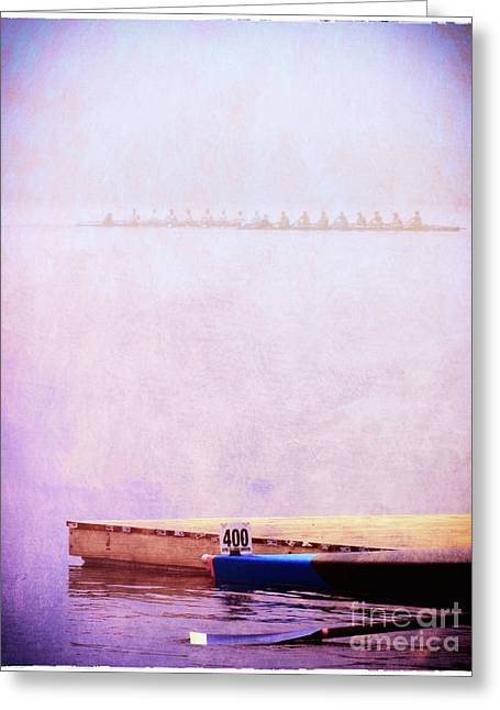 Racing Shells In The Fog Greeting Card