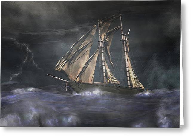 Racing The Storm Greeting Card