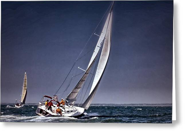 Racing To Nantucket Greeting Card