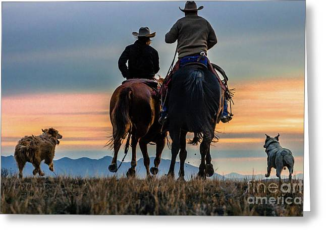 Racing To The Sun Wild West Photography Art By Kaylyn Franks Greeting Card