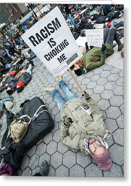 Greeting Card featuring the photograph Racism Is Choking Me by Theodore Jones