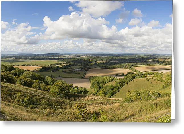 Rackham Hill To The North Downs Greeting Card