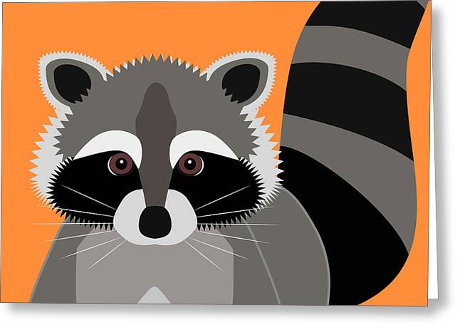 Raccoon Mischief Greeting Card by Antique Images