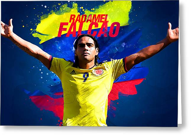 Radamel Falcao Greeting Card