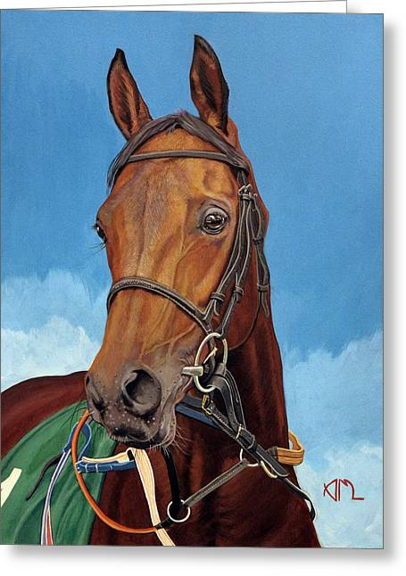 Radamez - Arabian Race Horse Greeting Card