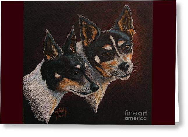 Radar And Ginger Greeting Card by Marilyn Smith