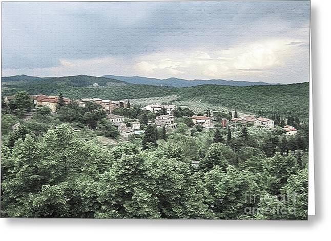 Radda Landscape Greeting Card by Linda Ryan