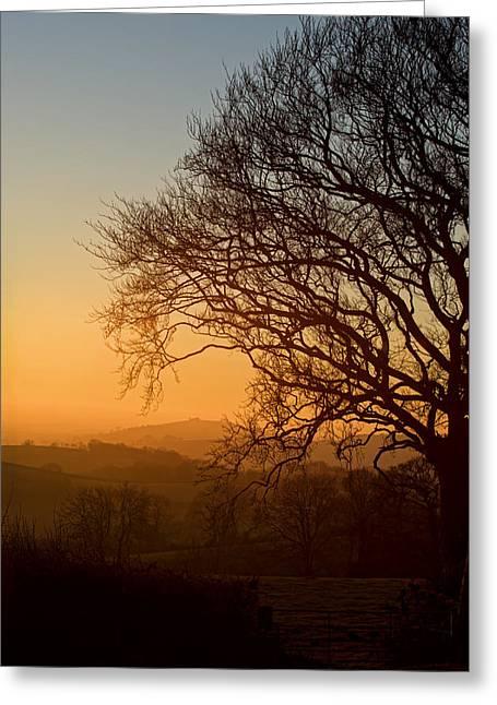 Raddon Hill At Sunset Greeting Card