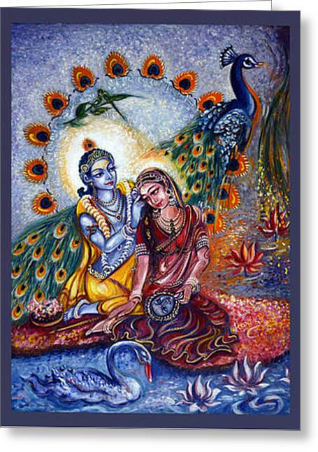 Radha Krishna Cosmic Leela Greeting Card