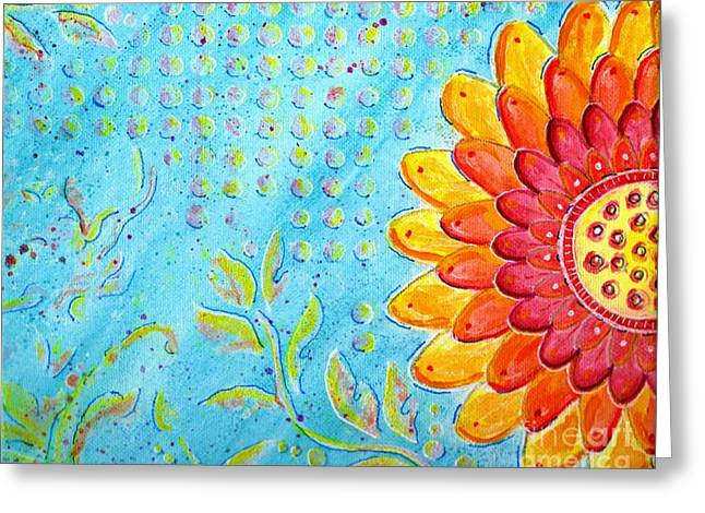 Radiance Of Christina Greeting Card by Desiree Paquette